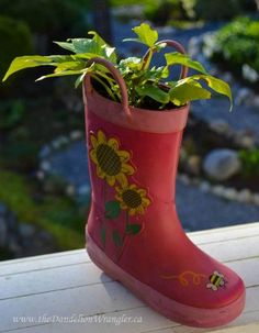 Cute Rubber Boot Planter