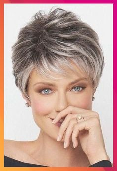 short grey hair 45 Best Short Hairstyles That You Simply Cant Miss - Love Casual Style Short Layered Bob Haircuts, Short Hairstyles For Thick Hair, Short Grey Hair, Haircut For Thick Hair, Short Hair With Layers, Short Hair Cuts For Women, Short Hairstyles For Women, Hairstyles Haircuts, Casual Hairstyles
