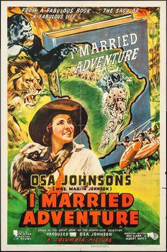 I Married Adventure (Columbia, 1940). One Sheet