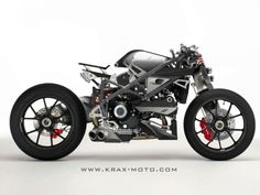 Ducati, yeah single sides swing arm. But what's that, single sided fork?  Crazy