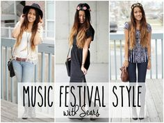 Spring Fashion: Music Festival Style with Sears -- rock it three different ways! #ThisisStyle #shop
