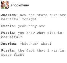 Image via We Heart It #hetalia #aphamerica #aphrussia