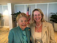 Phyllis Schlafly and Maureen Murphy, Naples, Florida, 3-11-16