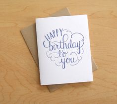 Happy Birthday to You Letterpress Card by wayfarepress on Etsy, $5.00