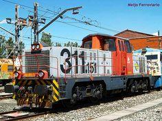 Locomotora 311.151 de Adif en Miranda de Ebro