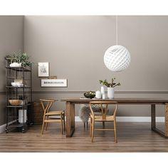 Nice living wall color natural (rock gray, l, matt) Hallway Decorating, Interior Decorating, Interior Design, Diy Interior, Plexiglass Table, Living Room Decor, Bedroom Decor, Dining Room, Bauhaus