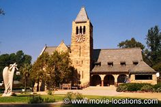 "The funerals in the dark comedy ""Heathers"" (1989) took place at Church of the Angels, 1100 Ave 64, Pasadena, CA."