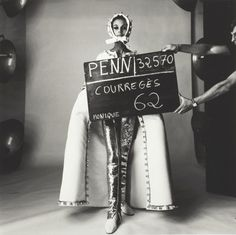 Irving PENN :: Courrèges Fashion with Slate, Paris, 1964 | The Art Institute of Chicago