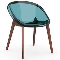 Bloom Chair with Wood Legs by Calligaris at Lumens.com