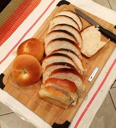 Today's accomplishments!  今日の成果  #ホームメイド #パン作り #breadmaking #homemadebread #homemadebagel #bagel #ベーグル #食パン