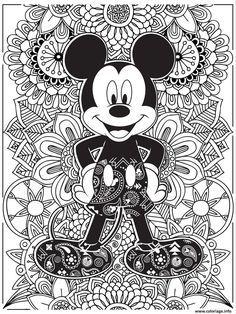 Coloriage Mandala Disney Mickeymouse Hd Dessin A Imprimer Coloring