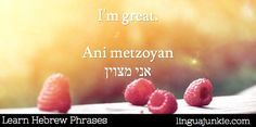 """14. Answering """"How Are You"""" or saying """"I'm fine"""" #Hebrew #learnhebrew"""