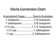 Stevia Conversion Chart Healthy Low Carb Recipes, Healthy Cooking, Cooking Tips, Healthy Eating, Sugar Substitutes For Baking, Vegan Substitutes, Stevia Desserts, Stevia Recipes, Gluten Free Deserts