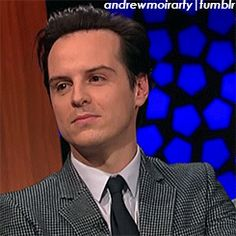 Look at the light in his eyes.  It goes out.  Andrew Scott to Moriarty in a split second. (gif)
