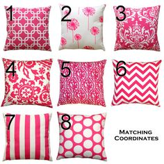 Throw Pillows- Premier Prints Candy Pink Pillow Cover- 12x16 or 12x18 inches- Zippered Pillow- You Choose- Lumbar Cushion Cover- Girls Decor
