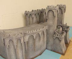 Minas Tirith Warhammer Terrain, 40k Terrain, Wargaming Terrain, Game Terrain, Fantasy Model, Fantasy Rpg, Medieval Fantasy, Model Castle, Minas Tirith