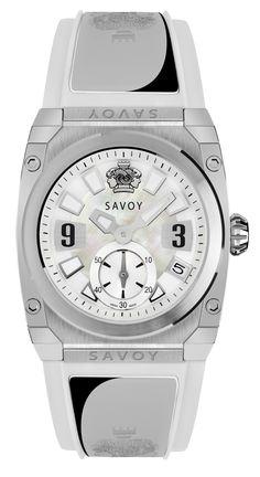 Savoy Watches Icon Light Ladies 35mm – White Rubber Strap S311A1P0101R4001 #SavoyIndia