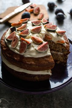 NYT Cooking: This dense and deeply figgy cake, adapted from Eli's Table in Manhattan, gets its complex flavor from a combination of fresh figs and fig jam, seasoned generously with cinnamon, cardamom and ginger. It's then filled and topped with cream cheese frosting that is sweetened with a combination of confectioners' sugar for lightness and honey for richness. Over all, it's a bit l...