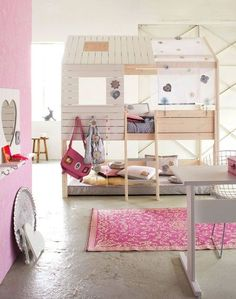 Adding a canopy to the top of the kids' IKEA bunk beds?