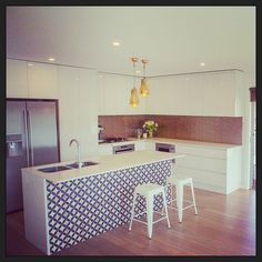 """Clients gorgeous kitchen! #interiordesign #interiorstyling #buildingcreations"""