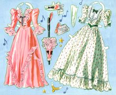 1941 Deanna Durbin paper doll clothes / eBay