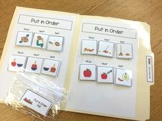 Fall Sequencing File Folder Activities - The Autism Helper