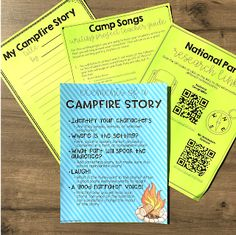 Elementary Classroom Themes, Ela Classroom, School Themes, Upper Elementary, School Ideas, Camp Songs, Campfire Stories, Camping Theme, Camping Activities