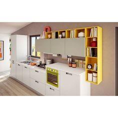 idea per parete cucina giallo senape