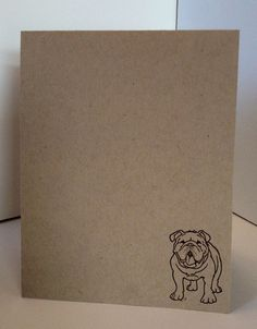 English Bulldog Hand Stamped Card Set of 4/ by lastsummertreasures, $5.00