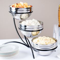 Sauces or something similar for buffet lines. Create an unforgettable tabletop presentation with this Vollrath 46541 wire display stand! Cool Kitchen Gadgets, Kitchen Items, Cool Kitchens, Red Kitchen Decor, Interior Design Kitchen, Buffet Set, Catering Display, Cuisines Design, Kitchen Essentials