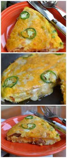 Jalapeno Tortilla Egg Bake This is so delicious.  This was kind of put together on the fly.  I wanted something different for breakfast and I needed to work fast.  Sometimes when I do that it is worth sharing and other times not so much!  Well this one is definitely worth sharing!