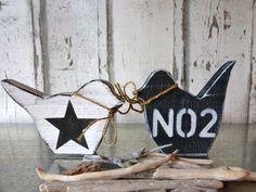 Deko-Objekte - 2 Holz-Vögel im Set*** - ein Designerstück von pabst96 bei DaWanda