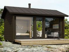 Tiny House Structure, 2 parts Tiny Guest House, Tiny House Cabin, Tiny House Design, Guest Cabin, Backyard House, Backyard Studio, Backyard Office, Tiny Cabins, Cabins And Cottages
