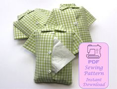 This is a PDF Sewing Pattern - ready to download  This is a PDF sewing pattern to make a stylish shirt tissue holder, looking like a shirt,