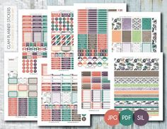 Free Monthly Printable Planner Stickers Set - Floral Doodle - Erin Condren