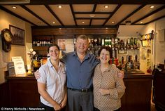 Joe and Janet Watson (centre and right) hope their daughter Becky (left) will follow in their footsteps and become the fourth generation Watson to run the business