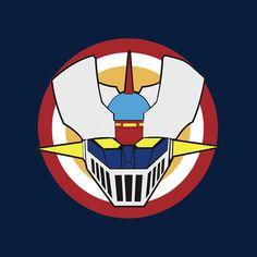 Camiseta Mazinger Z. Escudo Capitán América