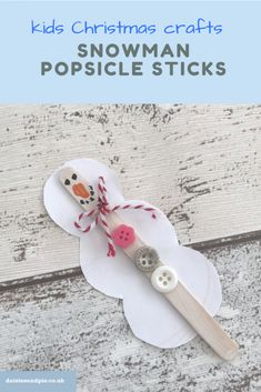 40 Creatives Winter Crafts for Kids Ideas - Craft and Home Ideas - Snowman craft for kids – cute little snowman popsicle sticks! Crafts For Teens To Make, Winter Crafts For Kids, Craft Projects For Kids, Spring Crafts, Diy And Crafts, Easy Crafts, Craft Ideas, Winter Ideas, Winter Fun