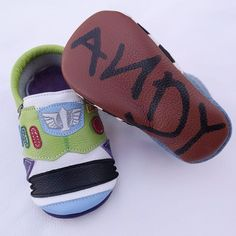 Toy Story Moccasins! #buzzlightyear #woody #unisex
