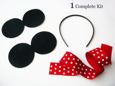Make Your Own Minnie or Mickey Mouse Ears Headbands - Do It Yourself Craft Kit - with Foam or Felt Ears