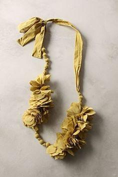 fabric scrap necklace