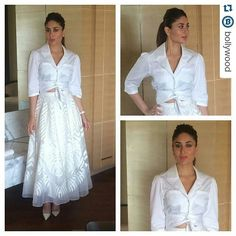 #Repost @bollywood  Kareena Kapoor Khan in Temperley London for Ki and Ka promotions @bollywood.  #kiandka #KareenaKapoorKhan #KAK #kareena #whitetop #Whiteskirt #ArjunKapoor #indian #india @BOLLYWOODREPORT  . For more follow #BollywoodScope and visit http://bit.ly/1pb34Kz