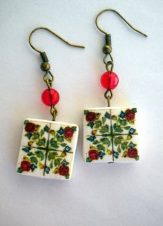 Portugal Tile Antique Replicas 17th Century ROSES see by Atrio,