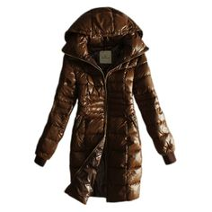 France Moncler Long Down Coffee Coat Women Outlet