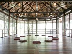 inside the tree house..open air studio #yoga