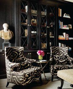 Фото из статьи: Цвет ночи: 20 чёрных гостиных