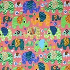 Kinderkatoen - Olifant Met Hartje Roze