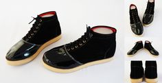 Sepatu boot trendy, warna hitam. Bahan beludru dan kulit sintetis. (SKU: S2HL200) - Rp. 99.000 - Gaun Tas: Tas Wanita Impor
