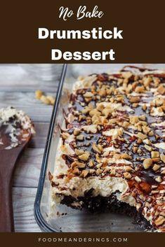 Summer Picnic Desserts, Easy Potluck Desserts, Bbq Desserts, Summer Dessert Recipes, Frozen Desserts, No Bake Desserts, Delicious Desserts, Yummy Treats, Sweet Treats