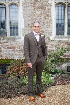 Dark Navy Suit, Tweed Waistcoat, Royal Blue Tie Photography by ...